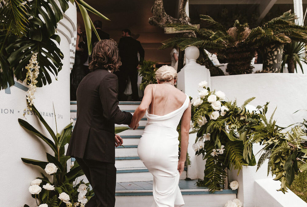 A luxurious beachfront wedding in Byron Bay